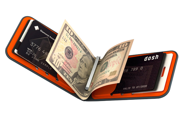Produktbild des Dosh Wallet Luxe orange